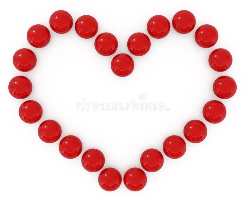 Coeur de caramel d'isolement sur le blanc illustration stock