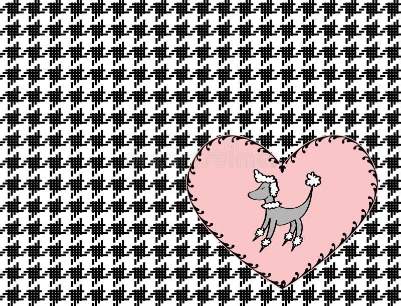 Coeur de carniche et illustration de Houndstooth illustration libre de droits