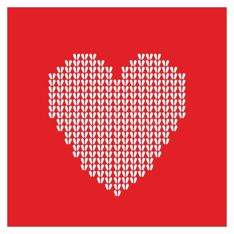 Coeur de carte de Valentine illustration de vecteur