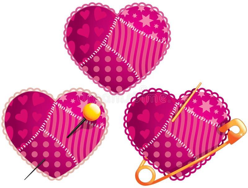 Coeur de chiffon illustration libre de droits