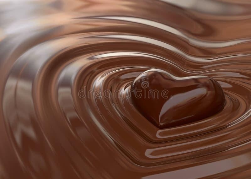 Coeur de chocolat illustration libre de droits