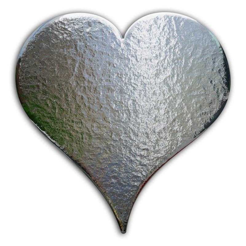 coeur de chrome illustration stock