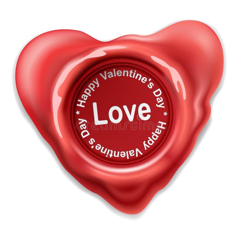 Coeur de cire de joint illustration libre de droits