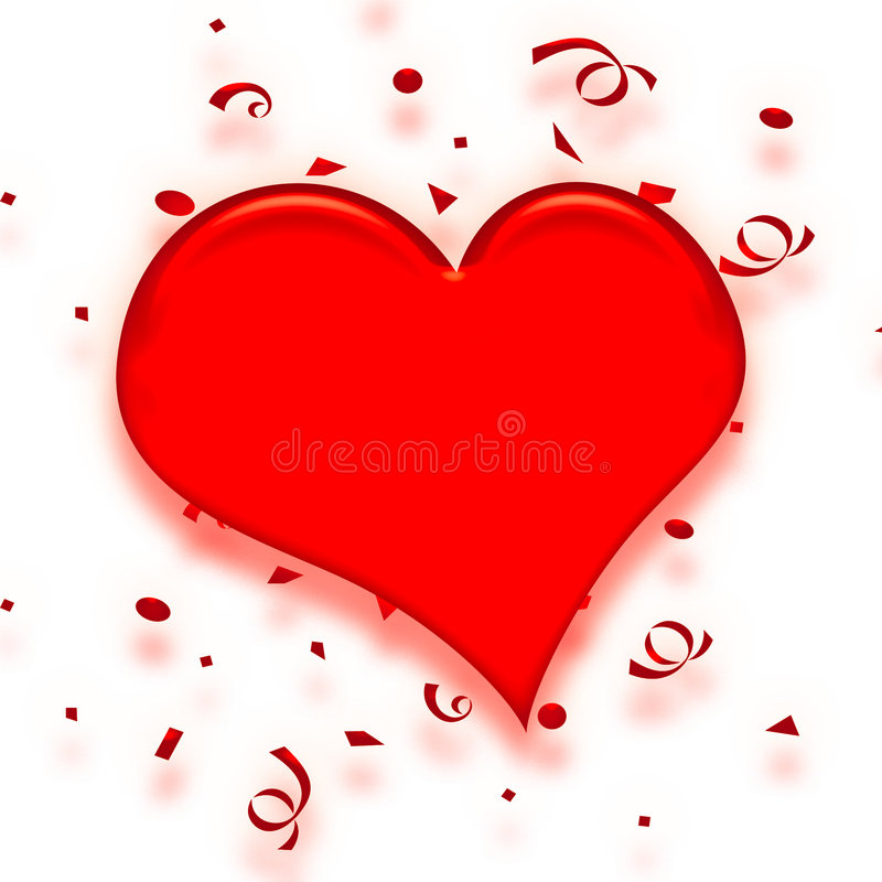 Coeur de confettis de Valentine illustration libre de droits