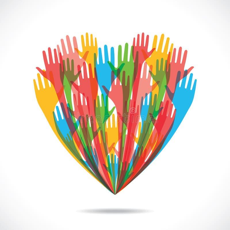 Coeur de couleur illustration libre de droits