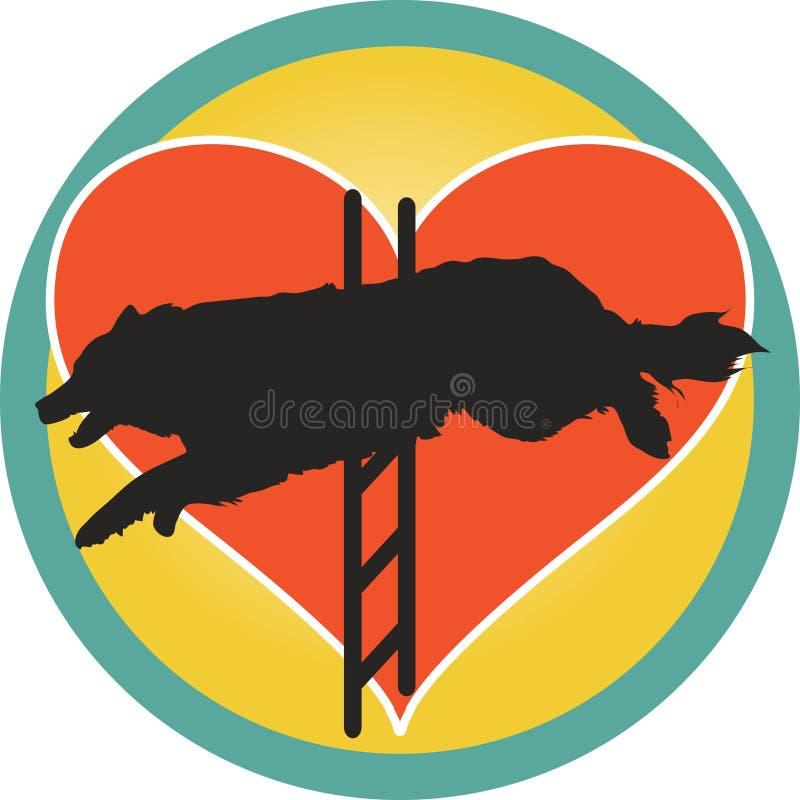 Coeur de crabot d'agilité illustration de vecteur