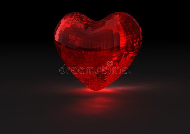 Coeur de cristal illustration libre de droits