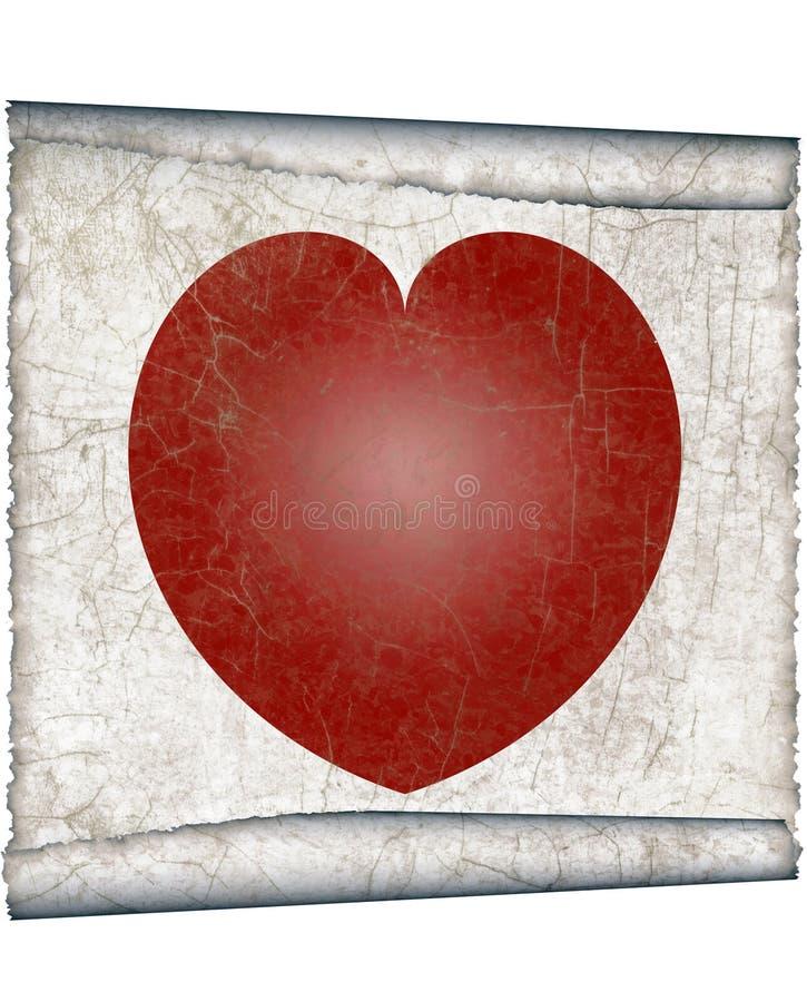 Coeur de cru illustration stock