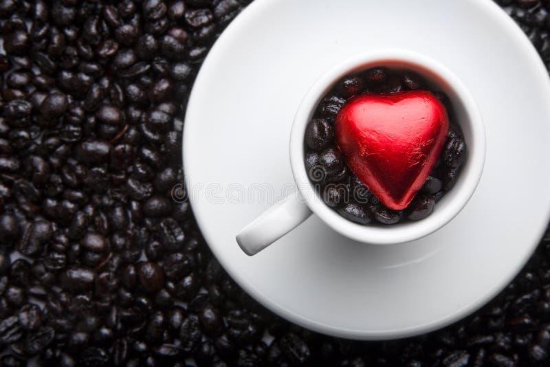 Coeur de cuvette de café photos stock