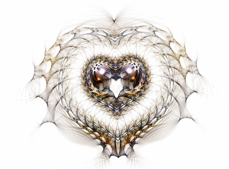 Coeur de dentelle illustration libre de droits