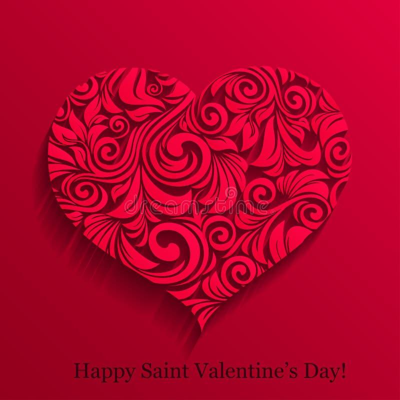 Coeur de dentelle de Valentine illustration de vecteur