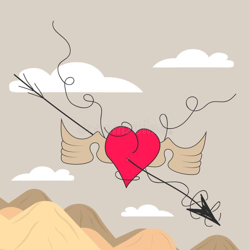 Coeur de dessin animé photographie stock libre de droits