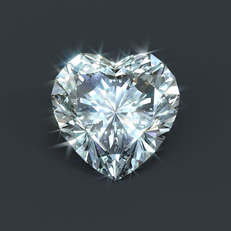 Coeur de diamant illustration stock