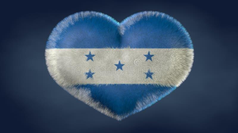 Coeur de drapeau du Honduras illustration libre de droits