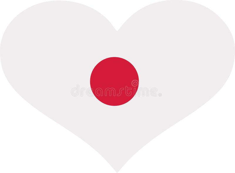 Coeur de drapeau du Japon illustration libre de droits