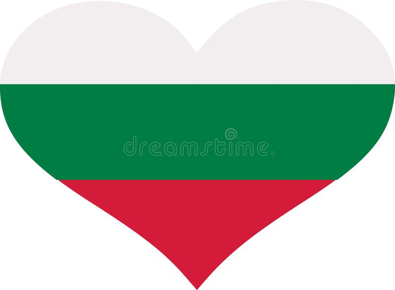 Coeur de drapeau de la Bulgarie illustration de vecteur