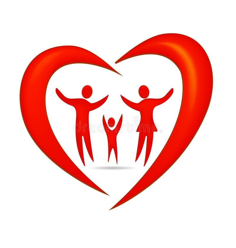 Coeur de famille illustration libre de droits