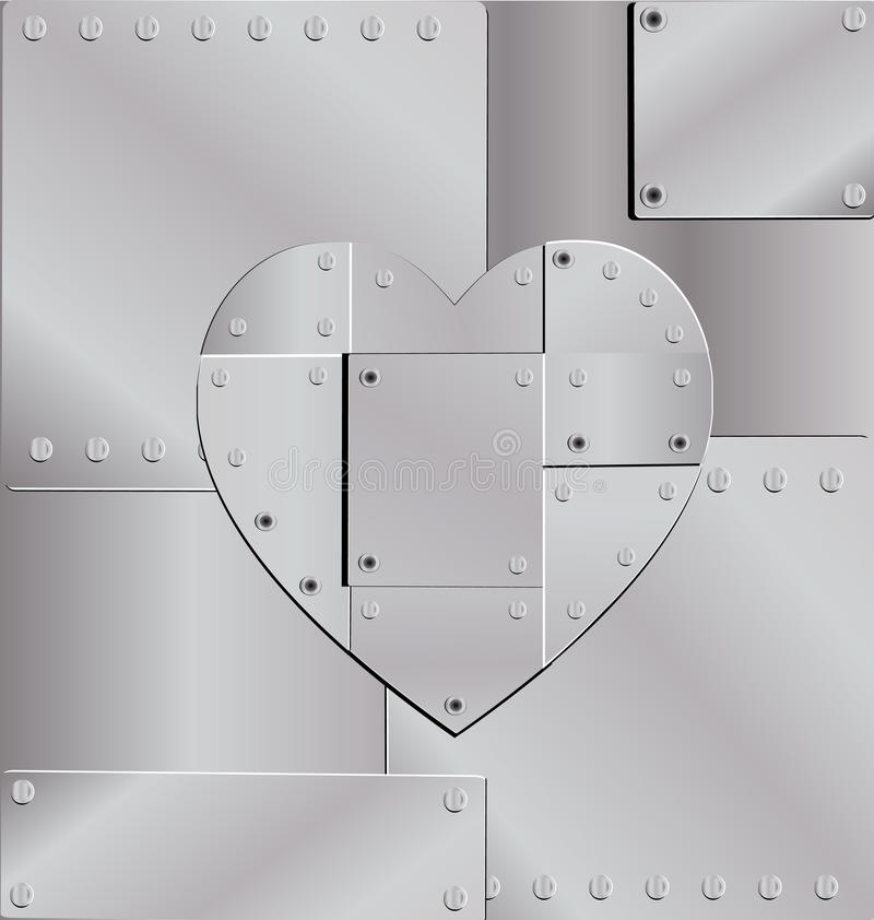 Coeur de fer de fond illustration stock