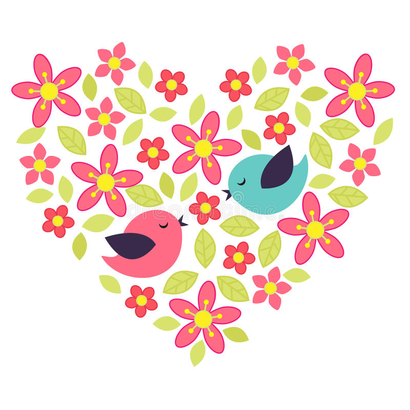 Coeur de fleur illustration stock