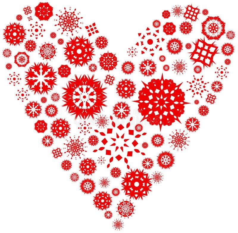 Coeur de flocons de neige illustration libre de droits