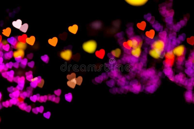 Coeur de flou de lumières photo stock