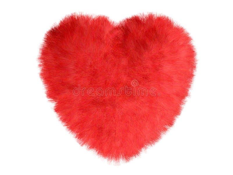 Coeur de fourrure illustration de vecteur