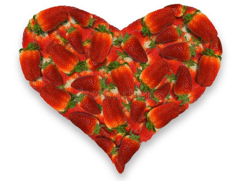 Coeur de fraises photographie stock libre de droits