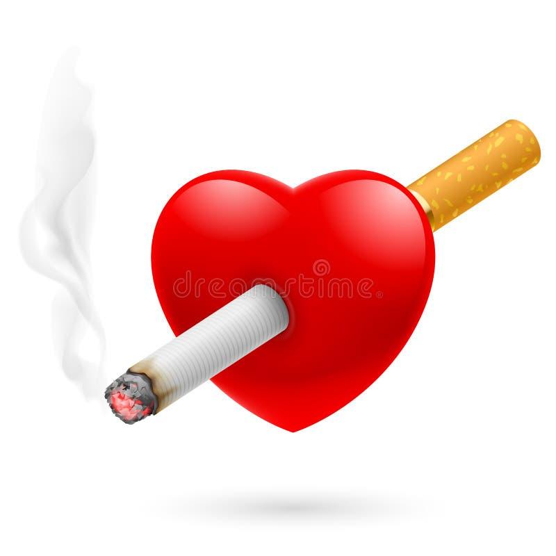 Coeur de fumage de mise à mort illustration libre de droits