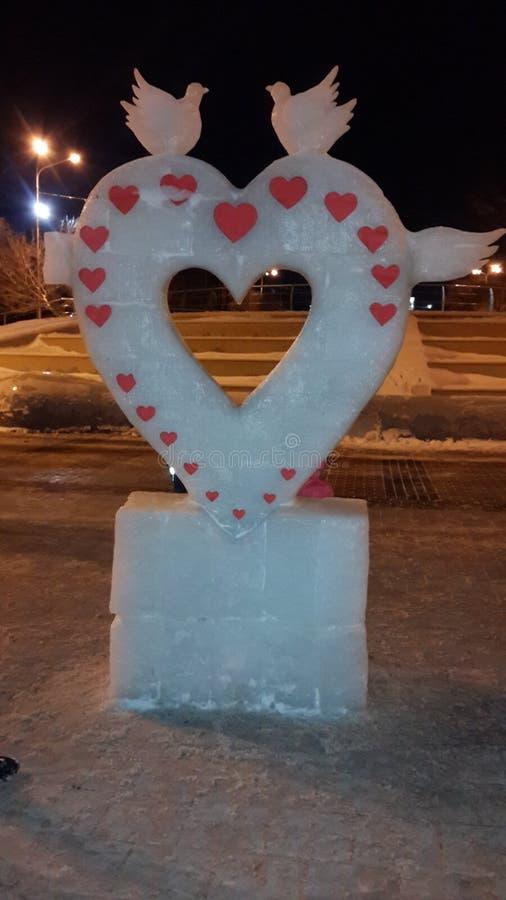 Coeur de glace photos stock