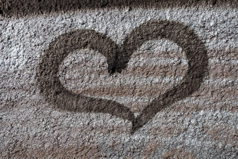 Coeur de graffiti images stock