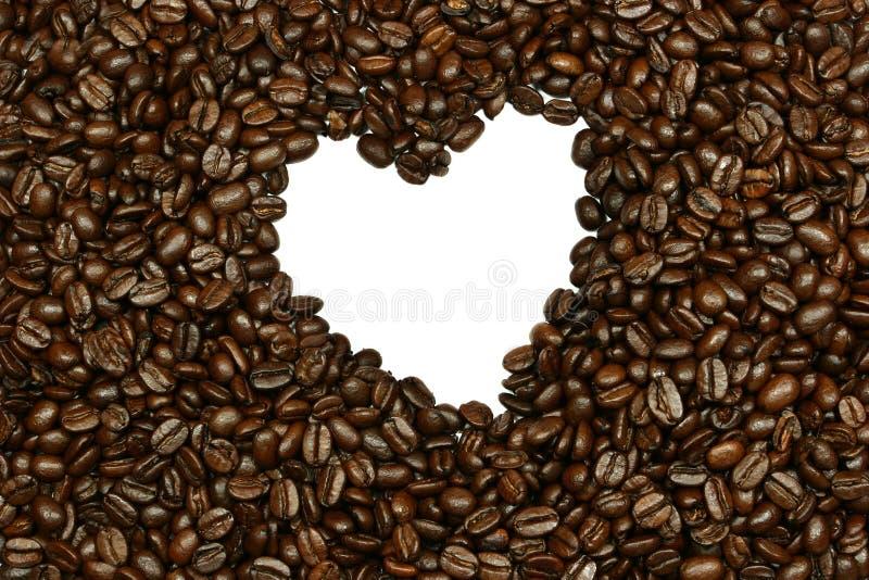 Coeur de grain de café image libre de droits