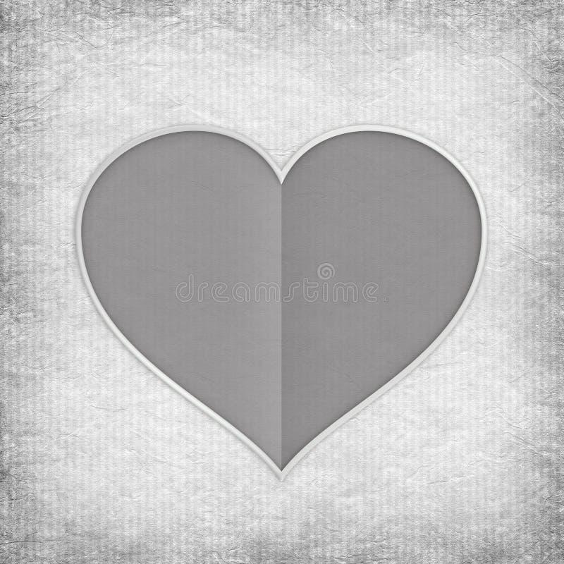 Coeur de Gray Valentine illustration libre de droits