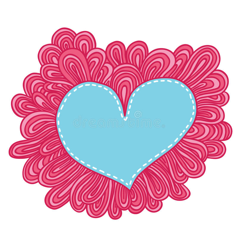 Coeur de griffonnage. Illustration de vecteur de jour de valentines illustration de vecteur