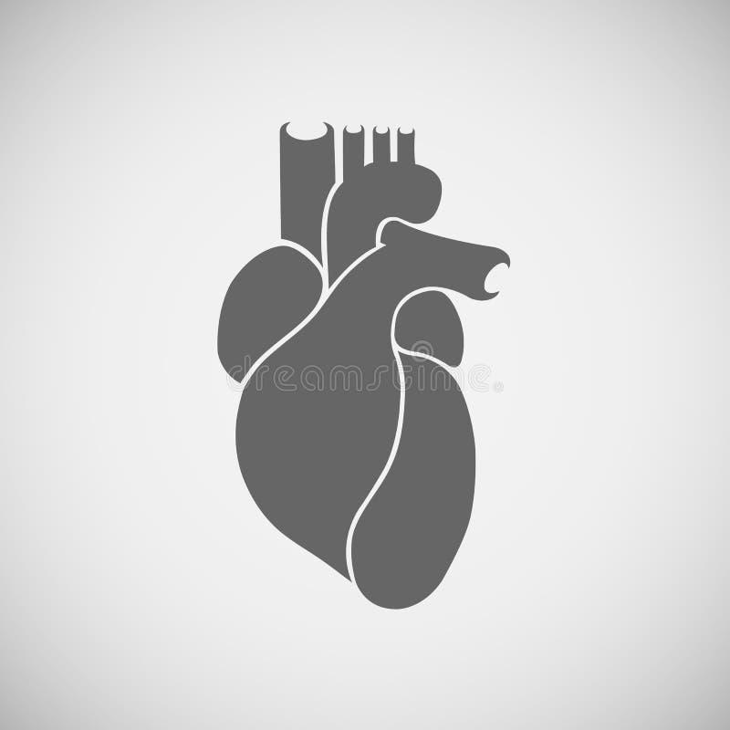 Coeur de gris de logo photos libres de droits