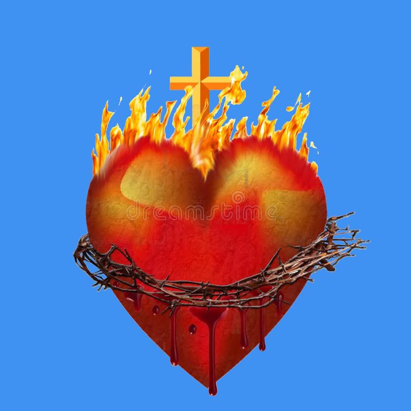 Coeur de Jésus illustration de vecteur