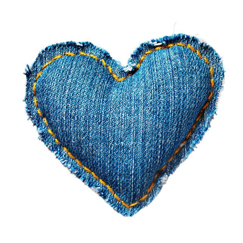 Coeur de jeans de Valentine image libre de droits