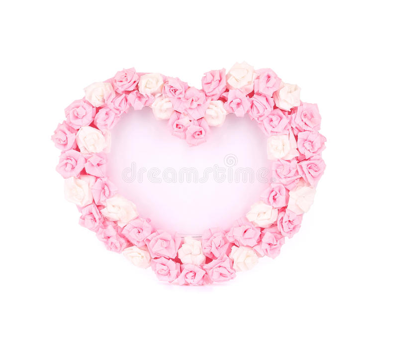 Coeur de jour de valentines fait de roses photo libre de droits