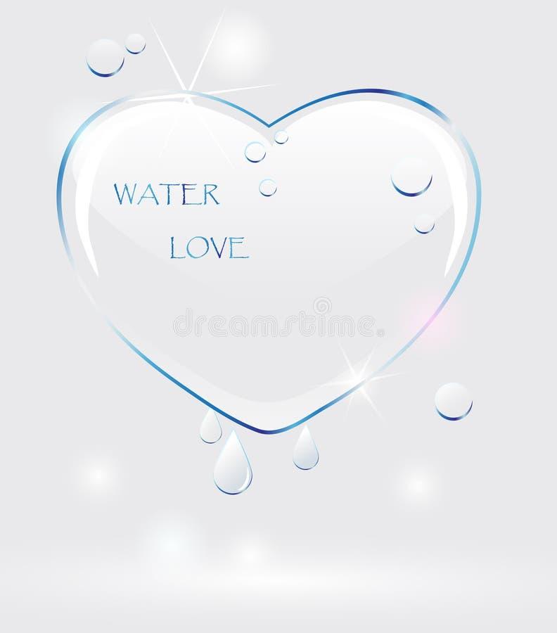 Coeur de l'eau illustration de vecteur