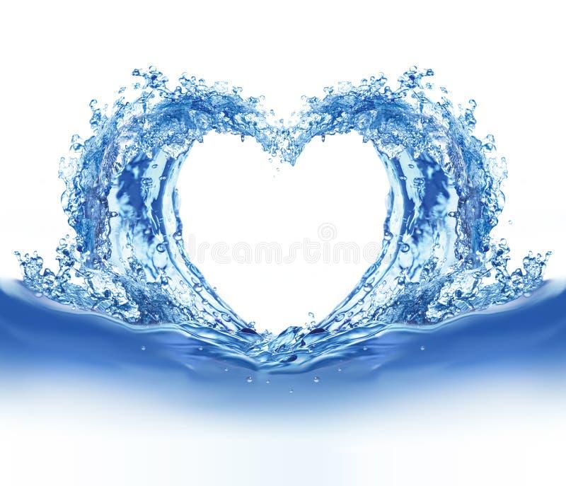 Coeur de l'eau bleue illustration stock