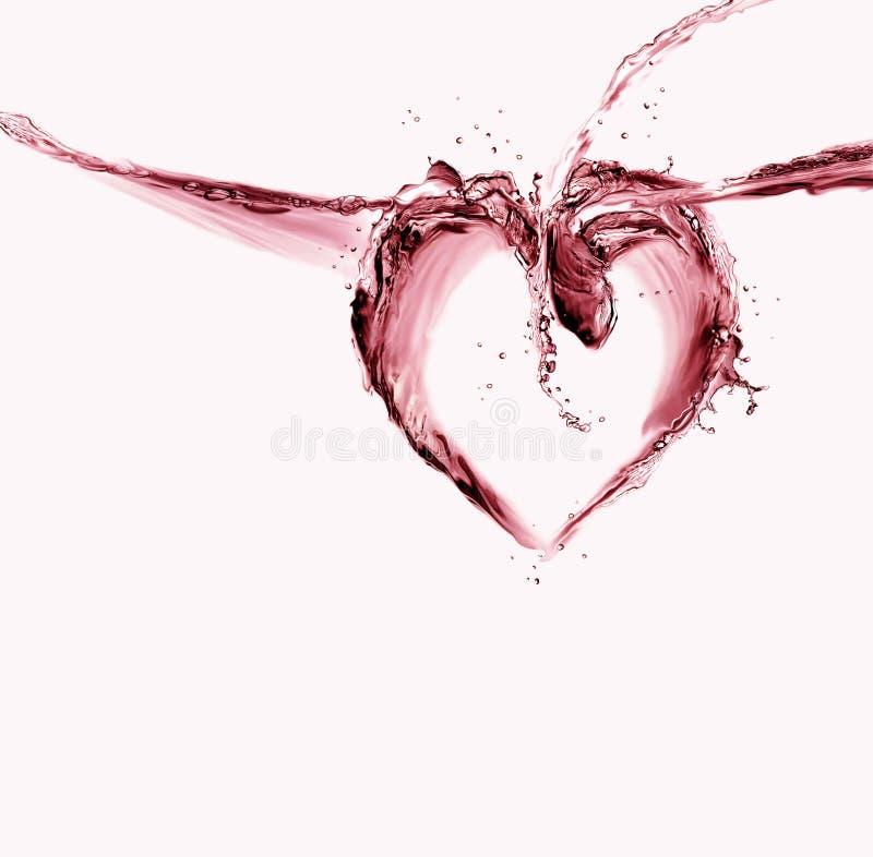 Coeur de l'eau rouge image stock