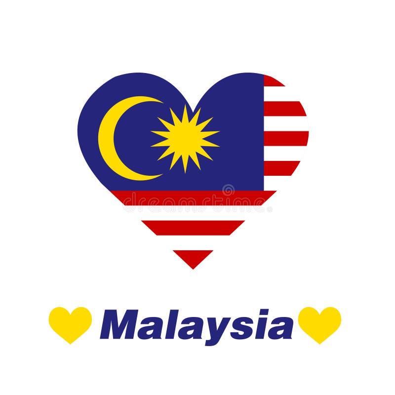 Coeur de la Malaisie illustration de vecteur