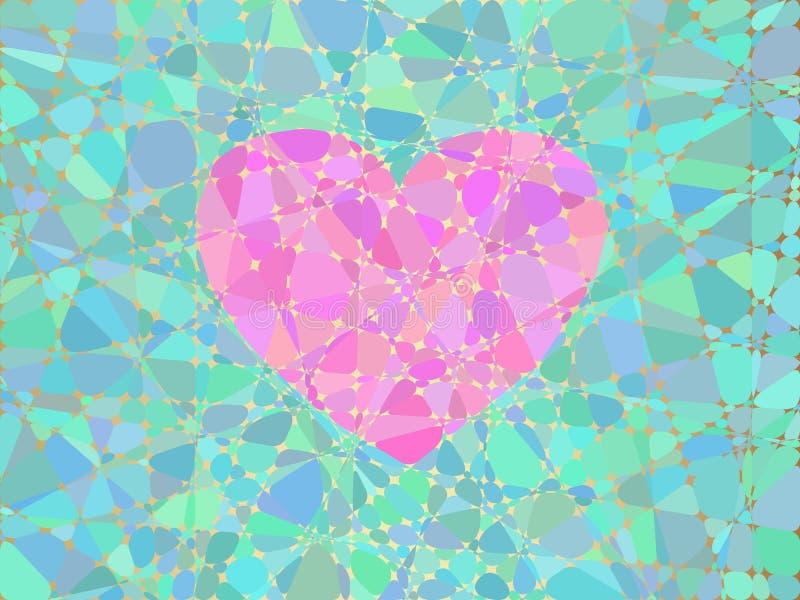 Coeur de la mosaïque illustration de vecteur