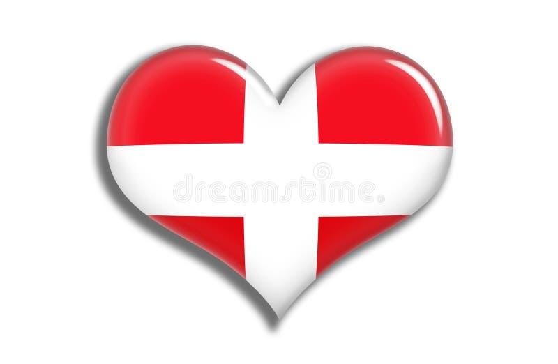 Coeur de la Suisse brillant illustration de vecteur