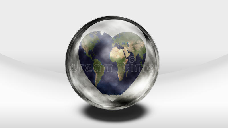 Coeur de la terre illustration stock