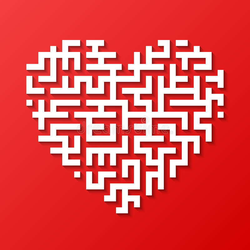 Coeur de labyrinthe illustration stock