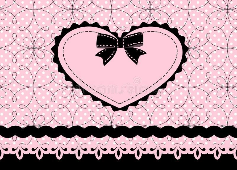 Coeur de lacet illustration stock