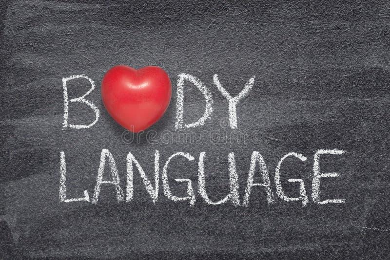 Coeur de langage du corps image stock