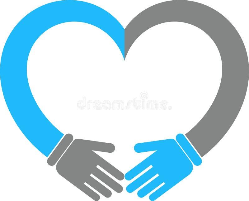 Coeur de main illustration de vecteur