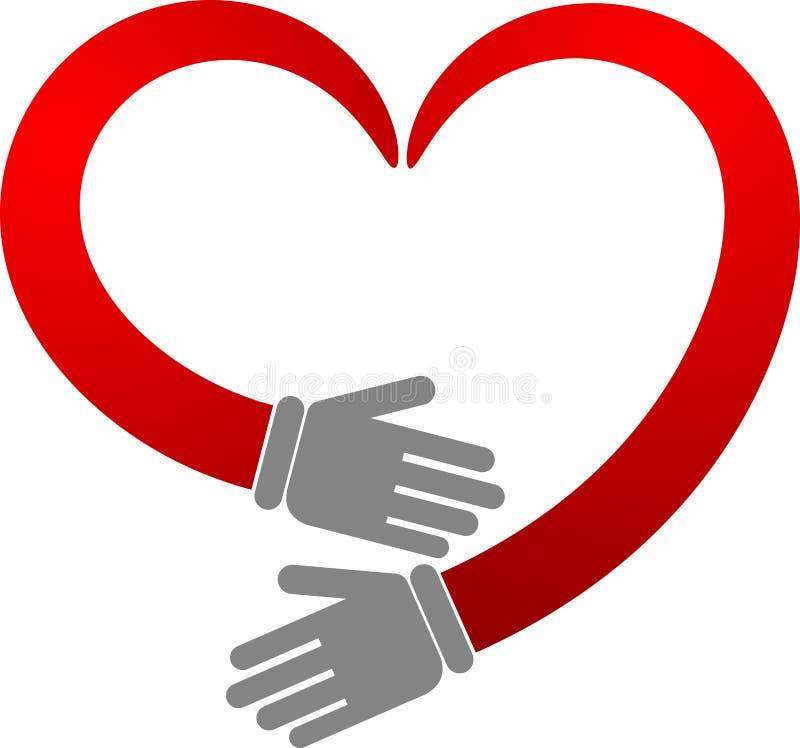 Coeur de main illustration libre de droits