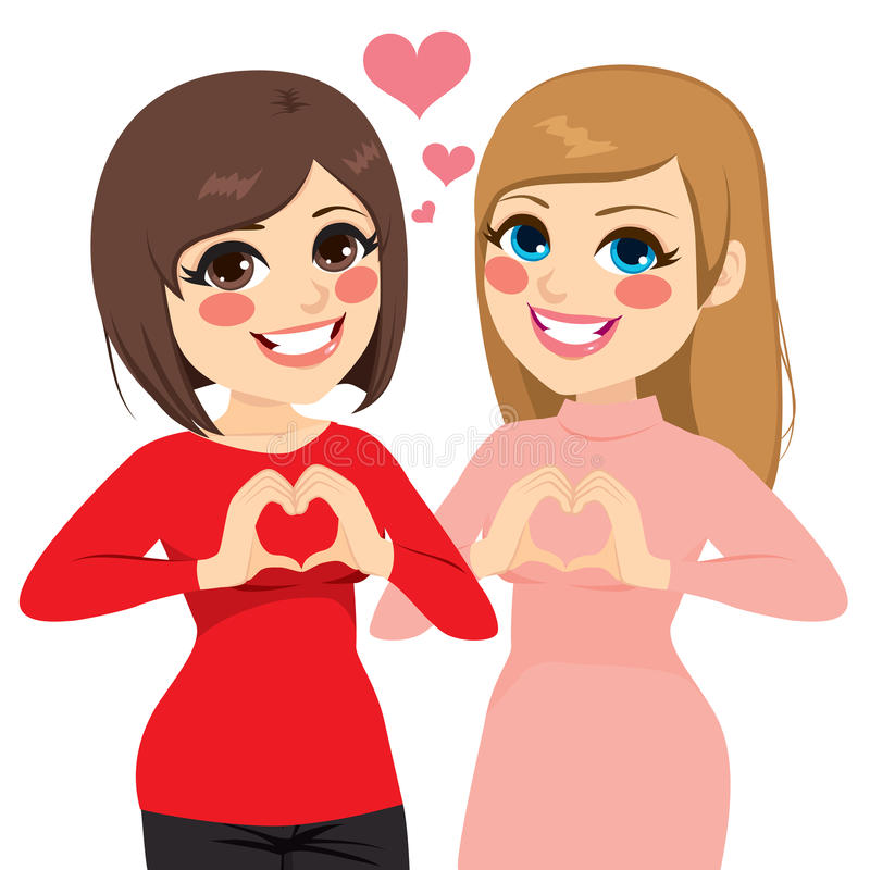 Coeur de meilleurs amis illustration libre de droits